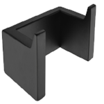 [Extra 15% off] Robe Hook Black Square- B72110