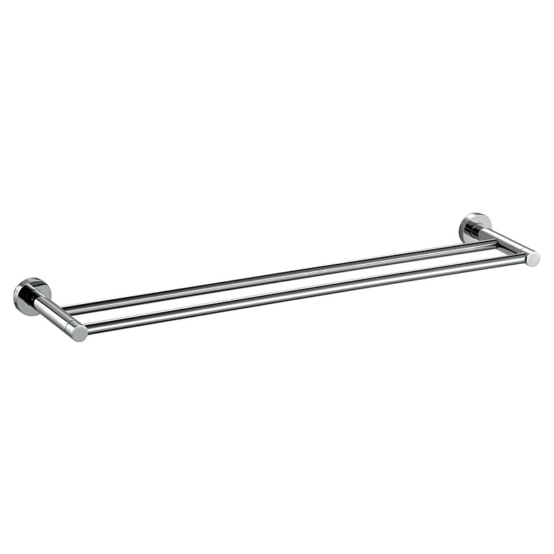 [Extra 10% off] Double Towel Rack Bar 600mm– Round- Stainless Steel- CA93908