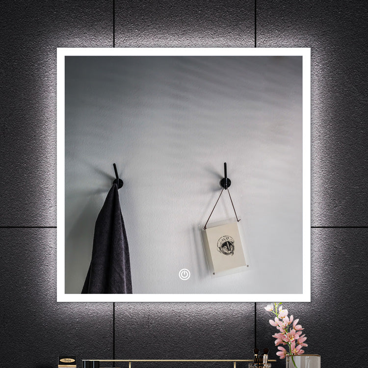 [Extra 10% off] Bathroom LED Mirror High Quality Size: 680 (H)*580 (W)* 90(D)mm- GY-D10