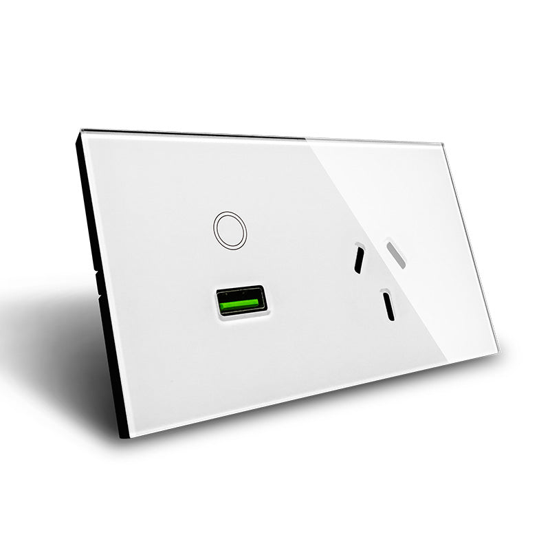 Power point with USB wall switch- AU Standard