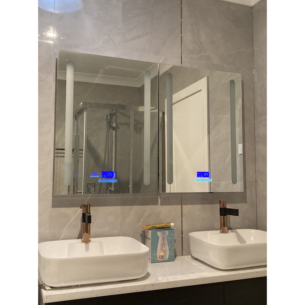 Bathroom LED Mirror Size: 600(W)*800(H)*60(D)mm GY-D04