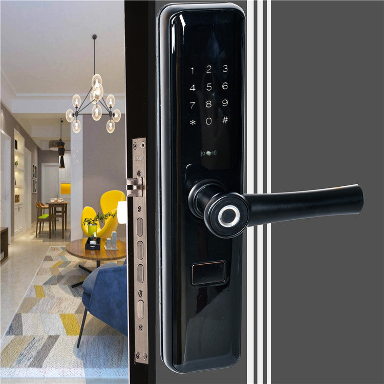 Smart Door Lock with Fingerprint Card Password Key Bluetooth Smart App CBAH9200