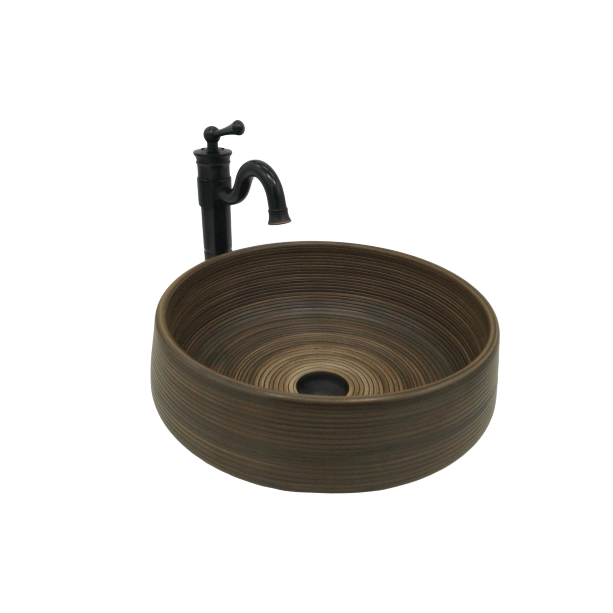 [Extra 15% off] Above Counter Art Basin Sink Hand Made Round- Size: 400mm- CB-45155