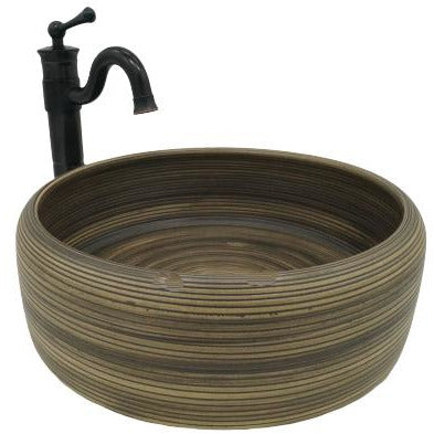 [Extra 10% off] Above Counter Art Basin Sink Hand Made Round- Size: 400mm- CB-45156