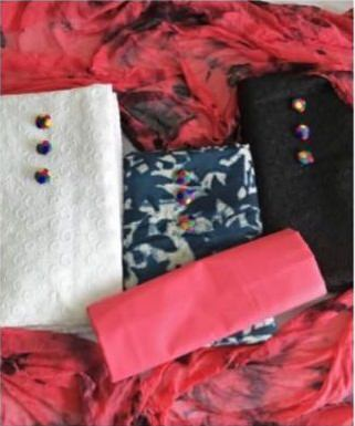 Chiken Cotton 3 Top Combo Material In 549/-
