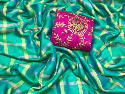Lilen Cotton Silk With Bangalory Blouse