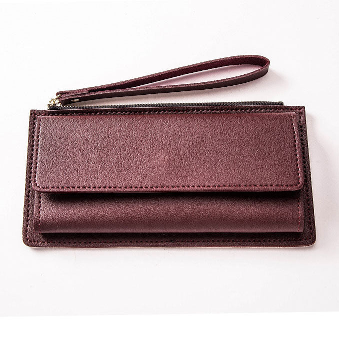 Slim Leather Clutch Wallet