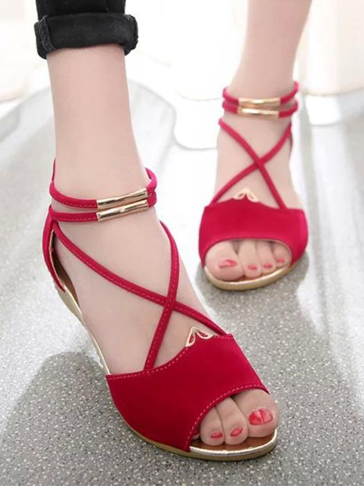 Summer Chic Strappy Breathable Peep Toe Sandals