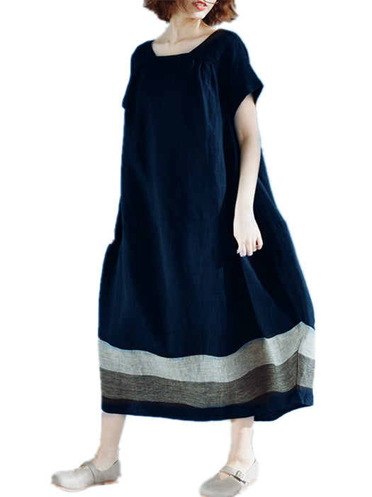 Large Size Cotton And Linen Long Dress
