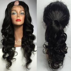 "8"" Unprocessed Brazilian Remy Glueless 250% Density Body Wave Wig - Nothing But Beauty Hair & More-Hair extensions and wigs"
