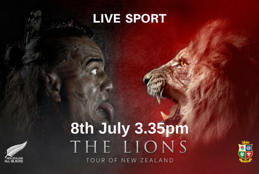 LIVE - LIONS V ALL BLACKS - FINAL TEST MATCH 8TH JULY @ 3.35pm