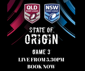 LIVE - State of Origin - Winner Takes All - 12th July 5.30pm
