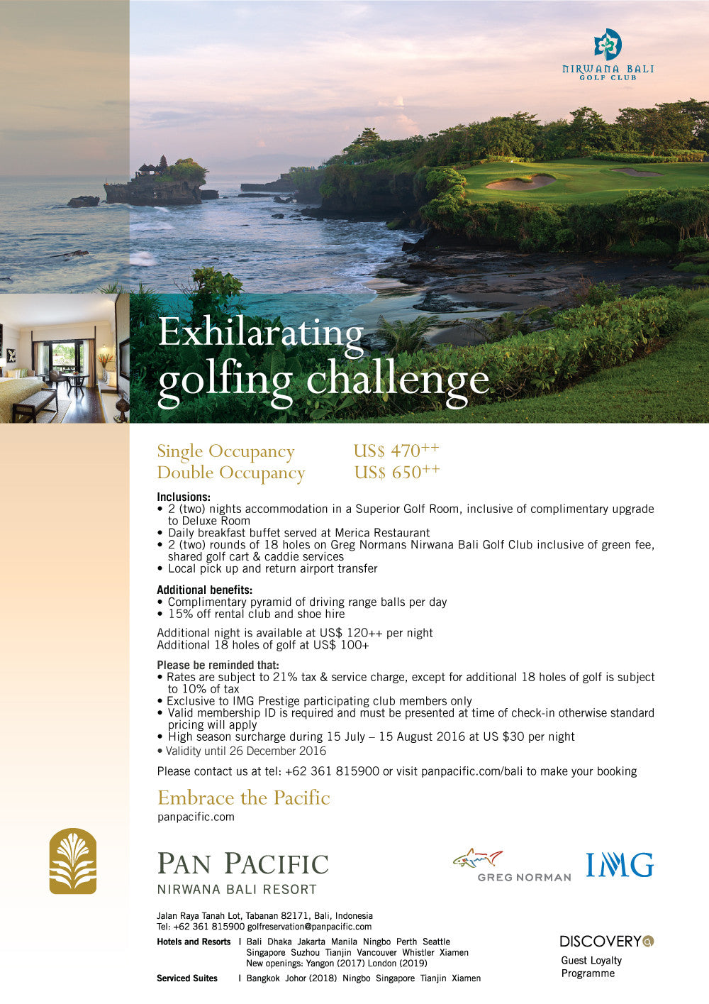 Nirwana Bali Exhilarating Golf Challenge
