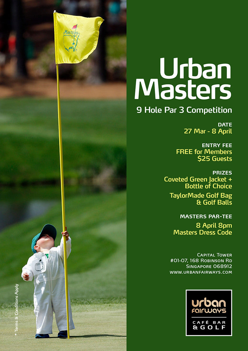 Urban Masters Tees off today 27th March