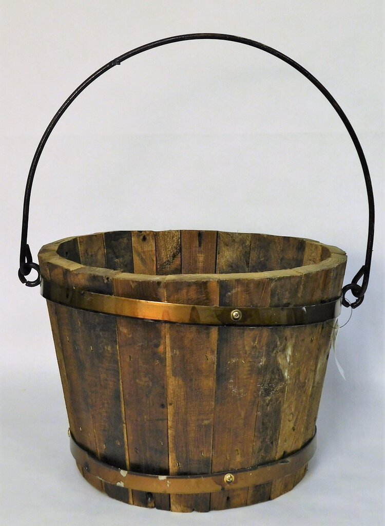 Rustic Wood Well Bucket