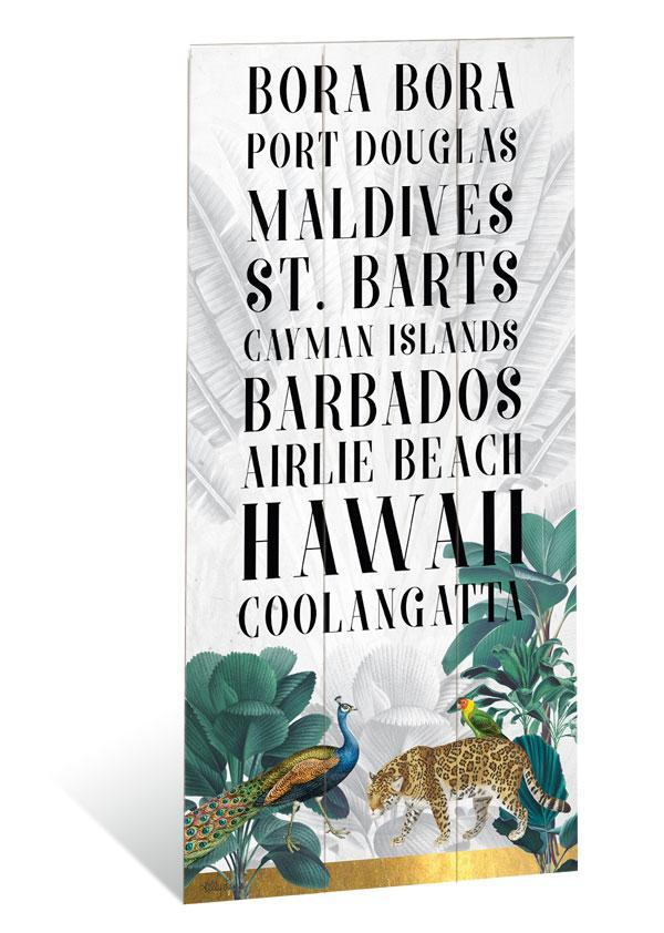 Wall Art 30x60 St Barts DESTINATION