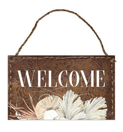 Hanging Tin Sign 18x30 Bismark WELCOME