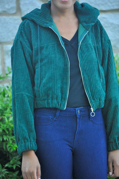 Emma Hunter Green Bomber