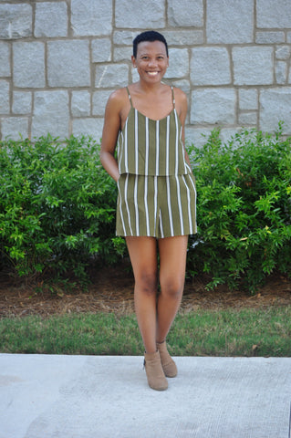 Morgan Striped Romper