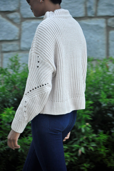 Kayleigh Cream Knit Sweater