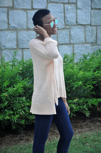 Paige Blush Knit Sweater