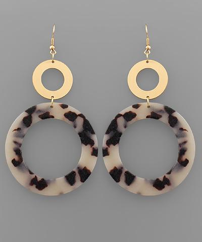 Circular Light Tortoise Earrings