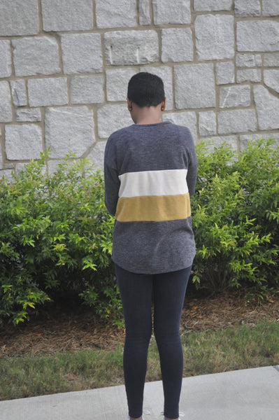 Kara Color Blocked Pullover