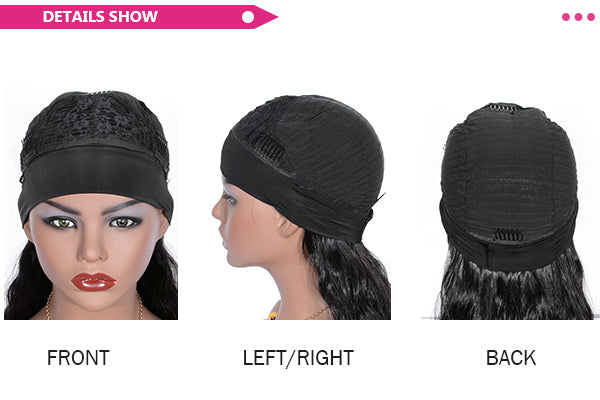synthetic headband wig details