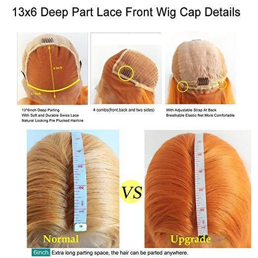 Fuhsi Wigs Lace Front Wig Long Wavy 002-613#-6