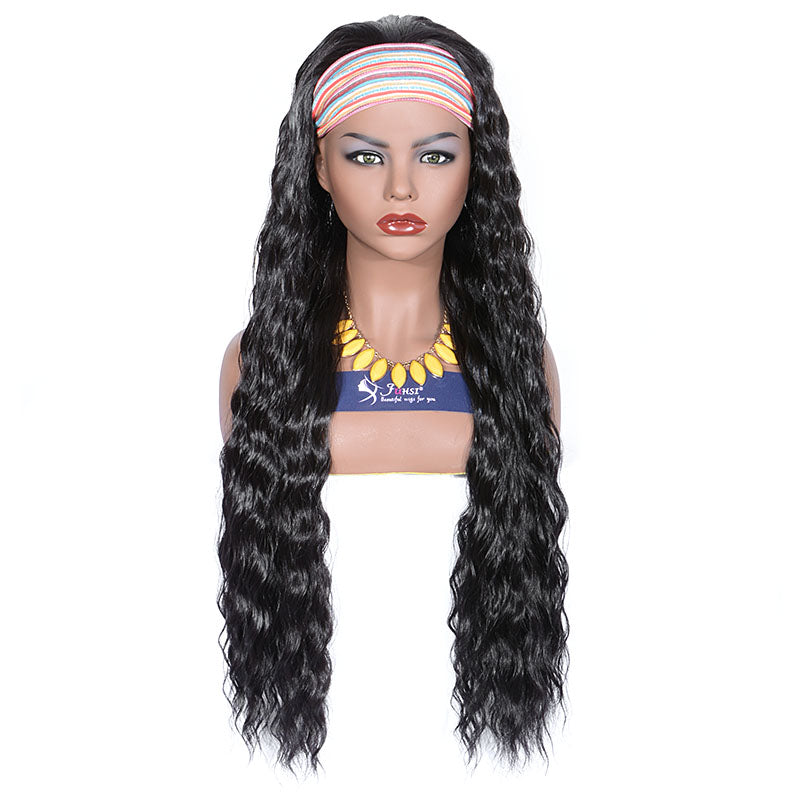 Long Curly Heat Resistant Synthetic Headband Wigs 28 Inches 2#