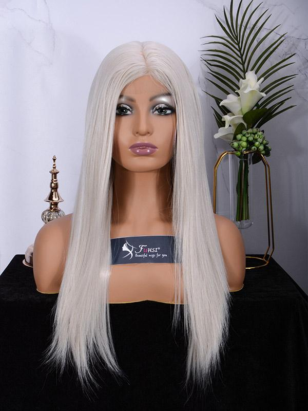 Fuhsi wigs lace front wigs 60# Straight-1
