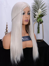 Fuhsi wigs lace front wigs 60# Straight-3
