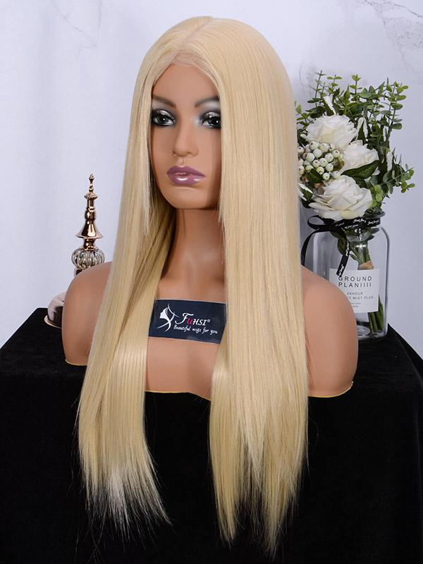 Fuhsi wigs lace front wigs 613#-straight-4