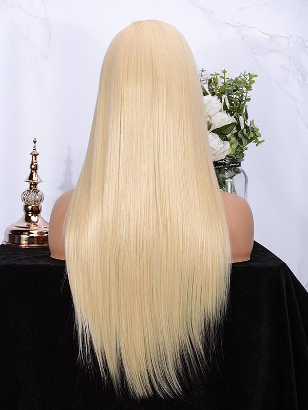 Fuhsi wigs lace front wigs 613#-straight-5