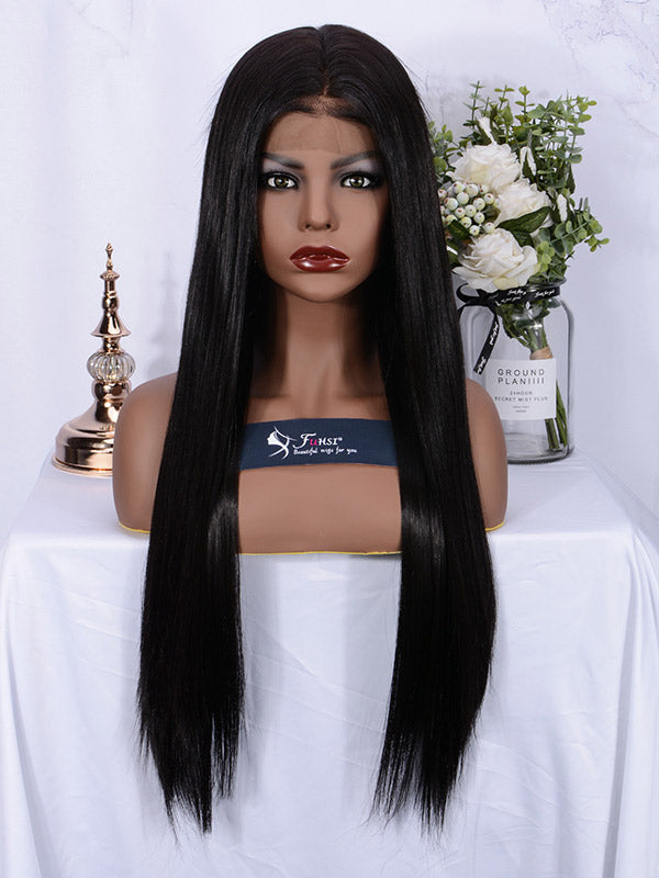 Fuhsi Wigs Lace Front Wig 2#-Straight–1