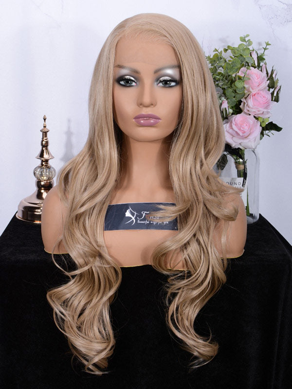Fuhsi Wigs Lace Front Wig Long Wavy 002-103#-1