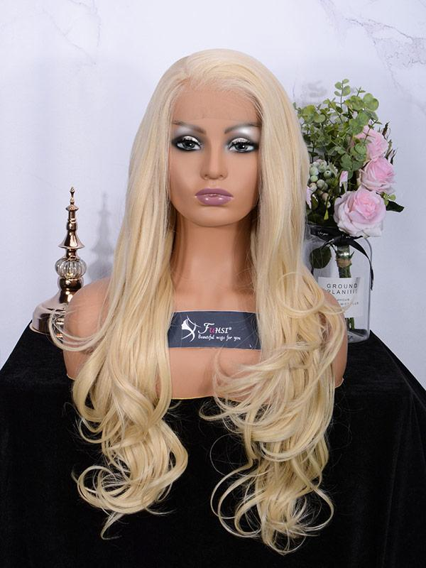 Fuhsi Wigs Lace Front Wig Long Wavy 002-613#-1