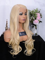 Fuhsi Wigs Lace Front Wig Long Wavy 002-613#-2
