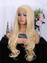 Fuhsi Wigs Lace Front Wig Long Wavy 002-613#-3