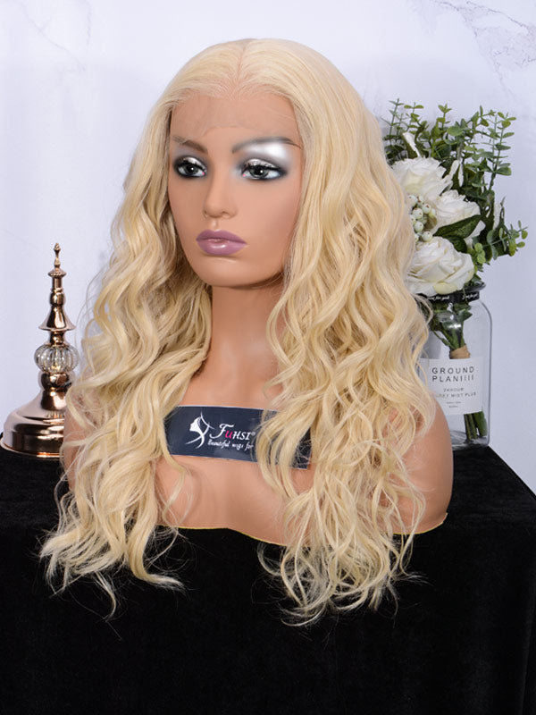 Fuhsi wigs lace front wigs curly wavy 007-613#-2