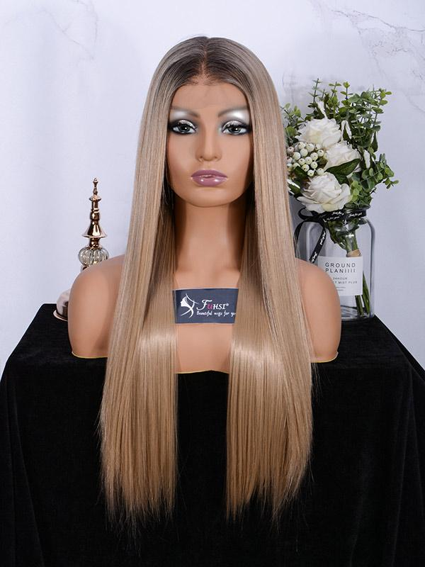 Fuhsiwigs full lace wigs 2T103# Straight-1