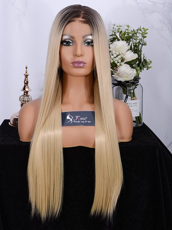 Fuhsiwigs full lace wigs 2T613# Straight-1