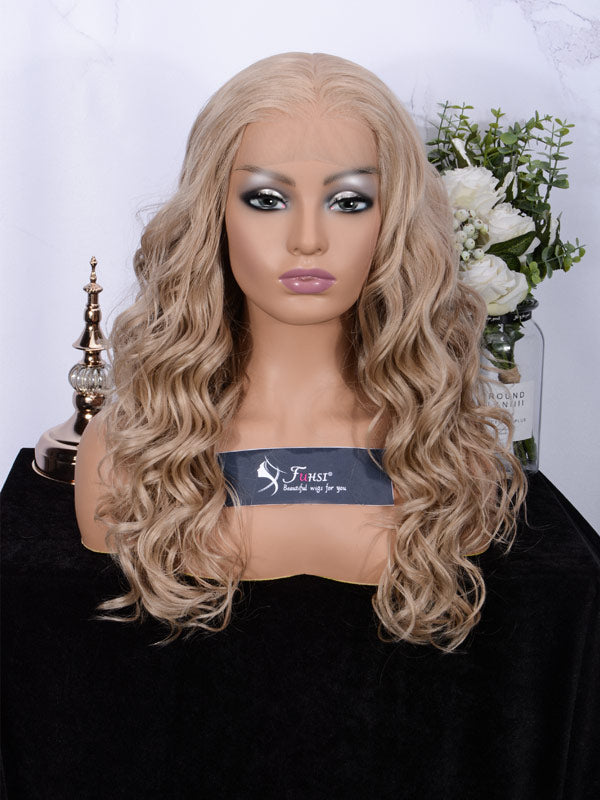 Lace fornt wig long wavy 007-103#-1