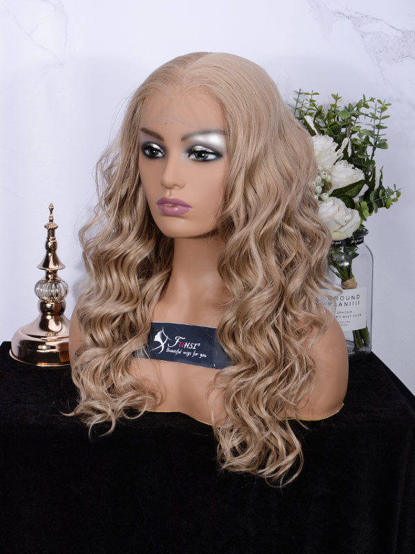 Lace fornt wig long wavy 007-103#-3