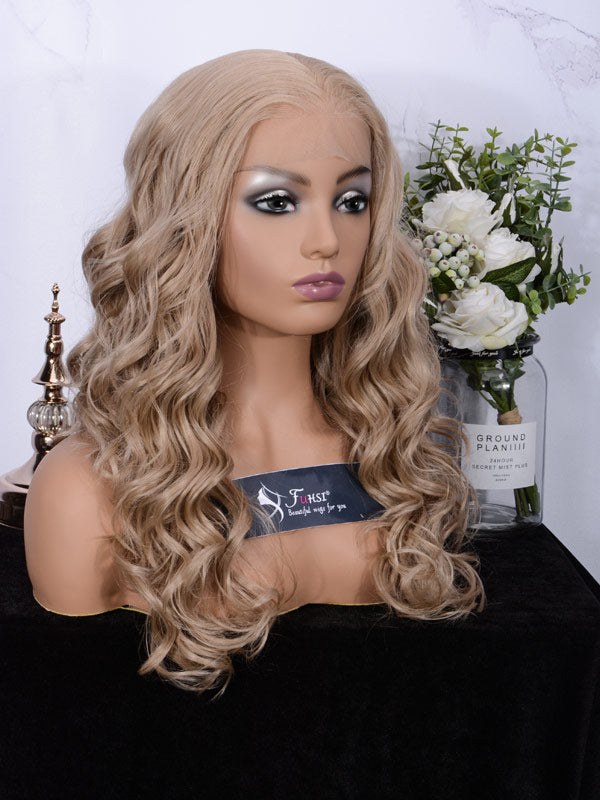 Lace fornt wig long wavy 007-103#-2