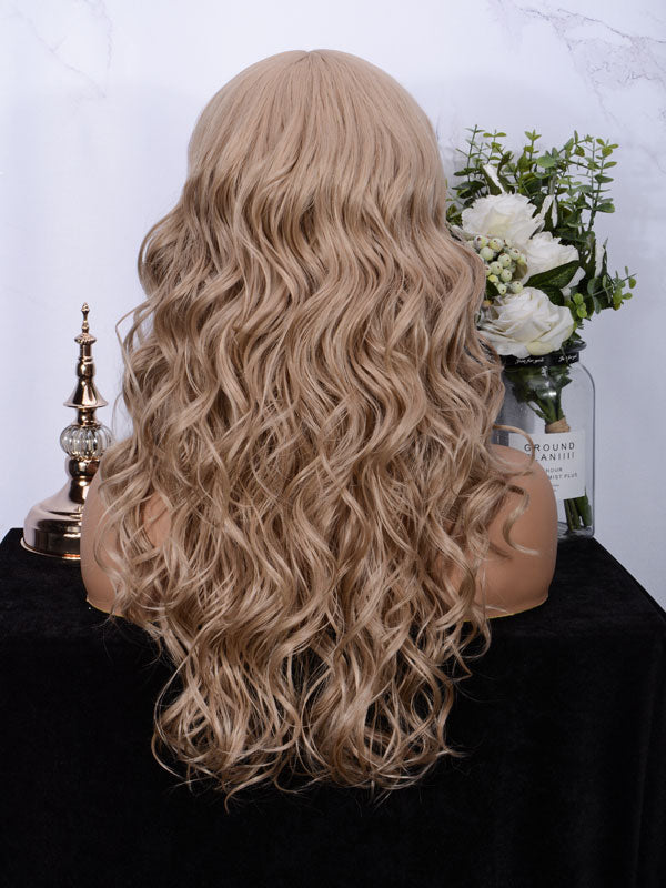 Lace fornt wig long wavy 007-103#-5