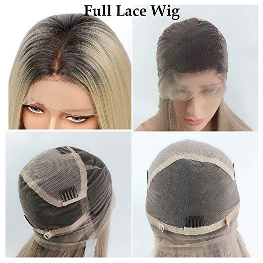 Fuhsiwigs full lace wigs 2T613# Straight-6