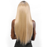 Long straight ash blonde full lace wig-mildwild