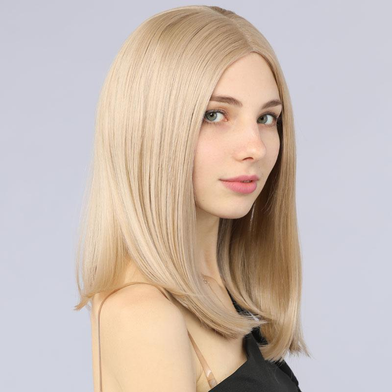 Lace Front Wigs Bob Straight Synthetic Lace Wig 13*6 Inches Blonde Color 103# - MILDWILD