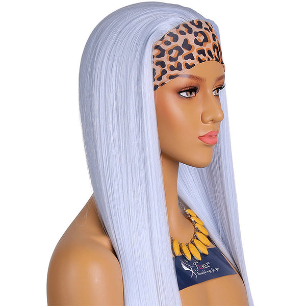 synthetic hair headband wig none lace-fuhsiwigs